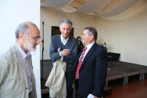 da sinistra: Giovanni Tesio, Remigio Bertolino, Francesco Granatiero