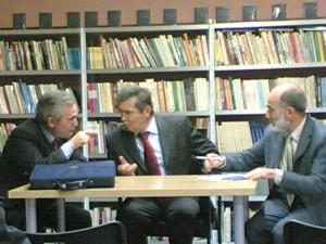 Da sinistra: Franco Pappalardo La Rosa, F. Granatiero, Giovanni Tesio