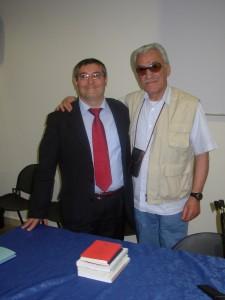Foggia, 23 maggio 2006 - Aula Seminari del Dipartimento Scienze Umane, Facoltà di Lettere e Filosofia. Achille Serrao (a destra) presenta «Bbommine » di Francesco Granatiero