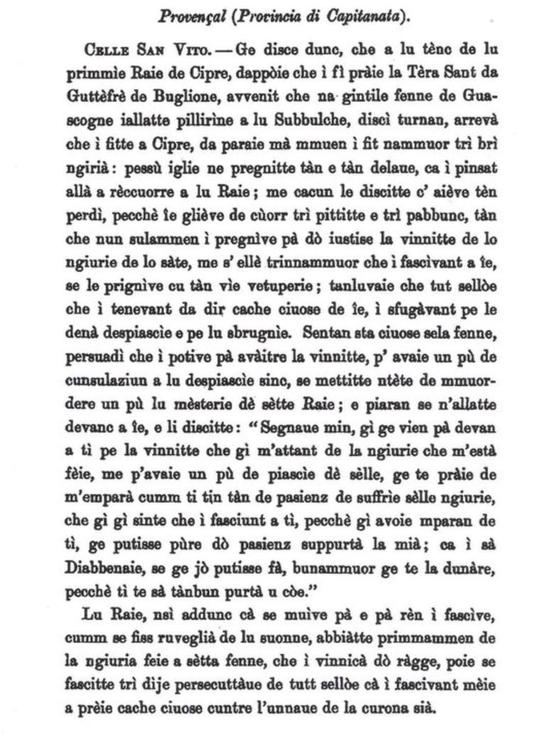 Traduzione nel «provenzale» di Celle della Novella IX del Decamerone